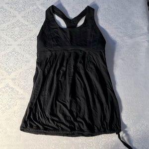 Lululemon Athletica Black Tank Top; size 6